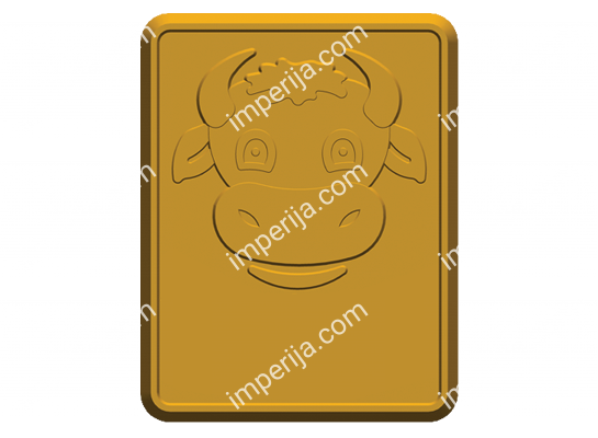 3d-model of sugar rectangular cookies No.768